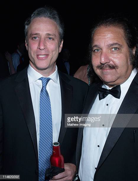 Jon Stewart and Ron Jeremy during 58th Annual Primetime Emmy Awards Governors Ball at The Shrine Auditorium in Los Angeles California United States