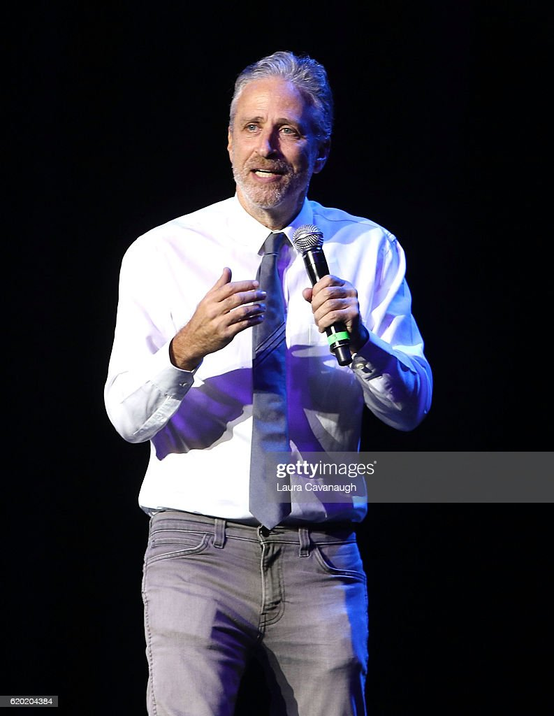 Jon Stewart attends 10th Annual Stand Up For Heroes - Show at The Theater at Madison Square Garden on November 1, 2016 in New York City.