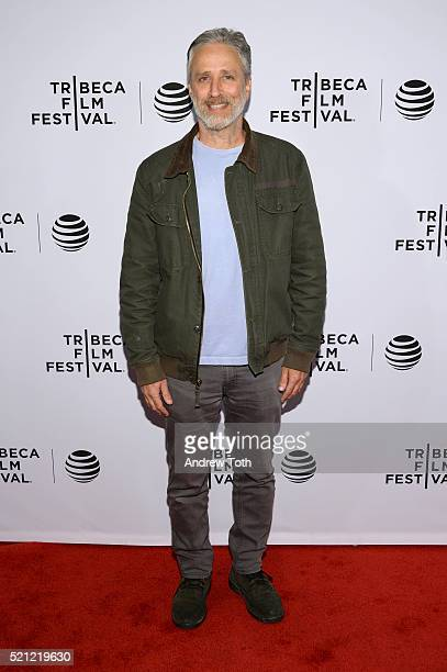 """Jon Stewart attends """"After Spring"""" Premiere - 2016 Tribeca Film Festival at Chelsea Bow Tie Cinemas on April 14, 2016 in New York City."""