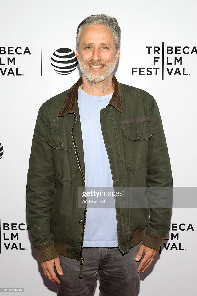 Jon Stewart attends 'After Spring' Premiere - 2016 Tribeca Film Festival at Chelsea Bow Tie Cinemas on April 14, 2016 in New York City.