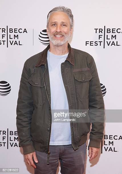 Jon Stewart attends 'After Spring' premiere during 2016 Tribeca Film Festival at Chelsea Bow Tie Cinemas on April 14 2016 in New York City