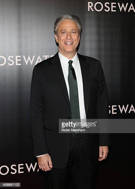 Jon Stewart attends Rosewater New York Premiere at AMC Lincoln Square Theater on November 12 2014 in New York City