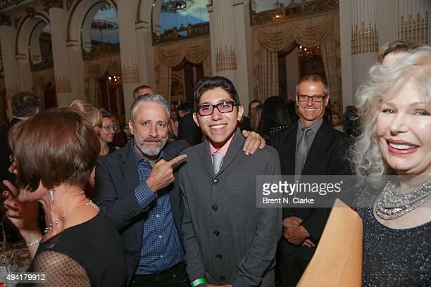 Jon Stewart Bruno Barba Gene Baur and Loretta Swit attend the 2015 Farm Sanctuary Gala held at The Plaza Hotel on October 24 2015 in New York City