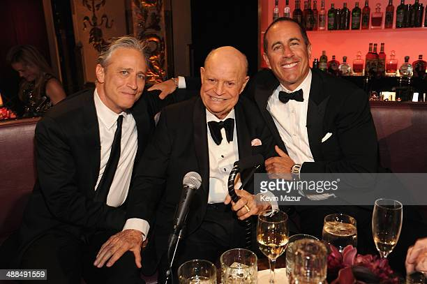 Jon Stewart Don Rickles and Jerry Seinfeld attend Spike TV's 'Don Rickles One Night Only' on May 6 2014 in New York City