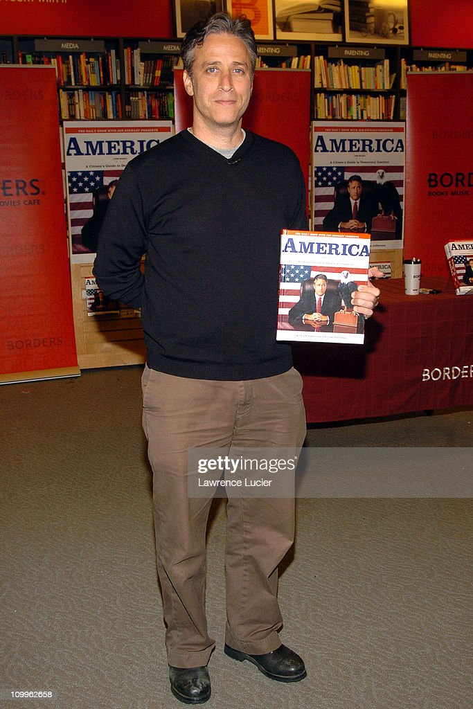 "Jon Stewart Signs Copies of his Book ""America: The Book - A Citizen's Guide To"