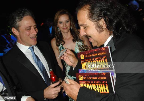 Jon Stewart guest and Ron Jeremy during 58th Annual Primetime Emmy Awards Governors Ball at The Shrine Auditorium in Los Angeles California United...