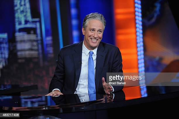 Jon Stewart hosts The Daily Show with Jon Stewart #JonVoyage on August 6 2015 in New York City