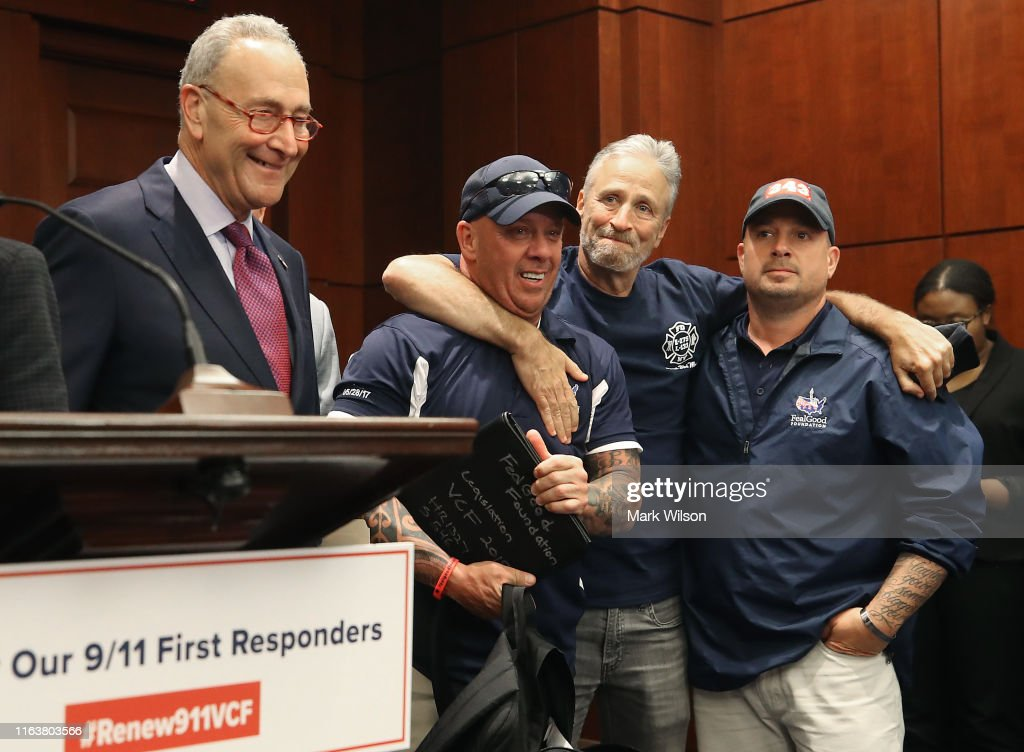 Members Of Congress Hold A Press Conference With 9/11 First Responders After 'September 11th Victim Compensation Fund Act' Vote : News Photo