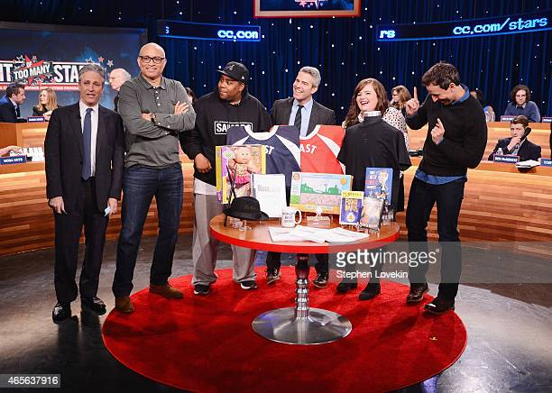 Jon Stewart Larry Wilmore Keenan Thompson Andy Cohen Aidy Bryant and Seth Meyers attend The Night Of Too Many Start Live Telethon on March 8 2015 in...