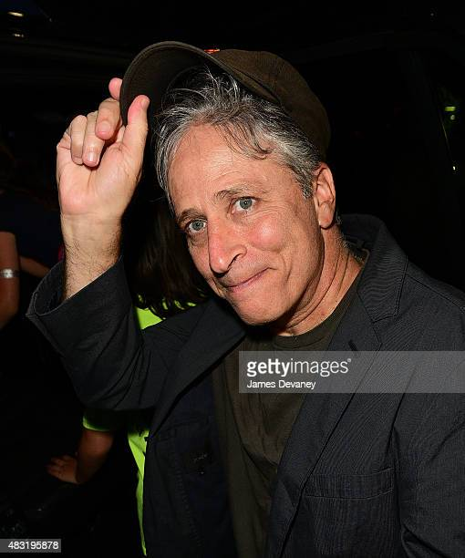 Jon Stewart leaves 'The Daily Show with Jon Stewart' on August 6 2015 in New York City