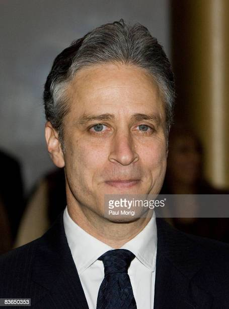 Jon Stewart on the red carpet at the 11th Annual Kennedy Center Mark Twain Prize for American Humor Award to George Carlin at the John F Kennedy...