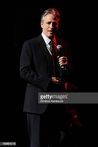Jon Stewart performs during the 6th Annual Stand Up For Heroes at the Beacon Theatre on November 8, 2012 in New York City.