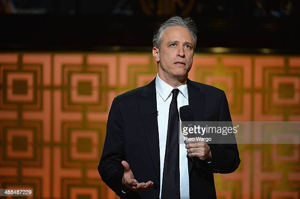 Jon Stewart speaks onstage at Spike TV's Don Rickles One Night Only on May 6 2014 in New York City