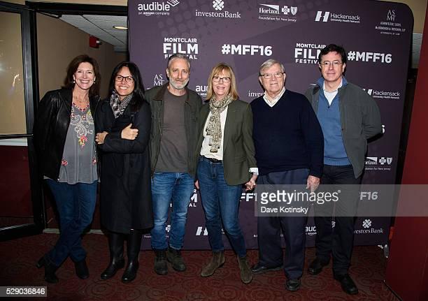 Jon Stewart Tracey Stewart Stephen Colbert Evie Colbert D A Pennebake and Chris Hegedus attend the Montclair Film Festival 2016 on May 7 2016 in...