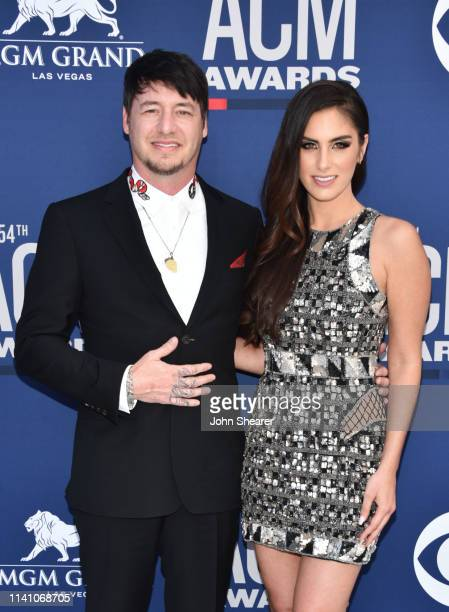 Jon Stone and Brittany Taylor attend the 54th Academy Of Country Music Awards at MGM Grand Hotel Casino on April 07 2019 in Las Vegas Nevada