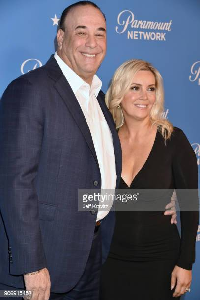 Jon Taffer and Nicole Taffer attend Paramount Network launch party at Sunset Tower on January 18 2018 in Los Angeles California