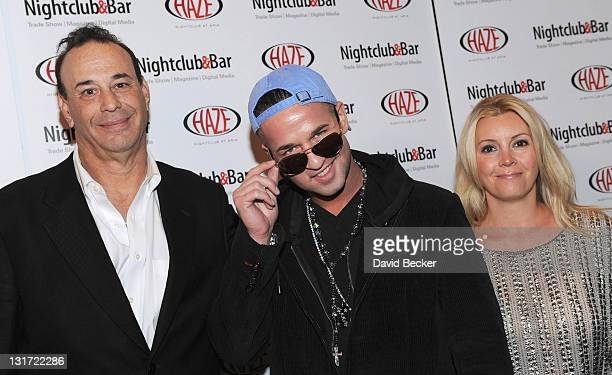 Jon Taffer President Nightclub Bar Media Group Mike The Situation Sorrentino and Nicole Taffer arrive at the 26th Annual Nightclub Bar Convention and...