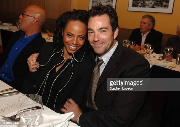 Jon Tenney and guest 11065_0128JPG during 2006/2007 TBS and TNT UpFront Green Room at Theatre at Madison Square Garden in New York City New York...