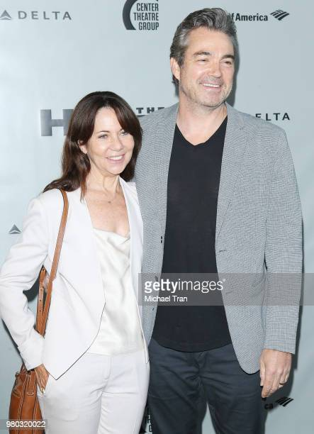 Jon Tenney and Leslie Urdang attend the opening night of The Humans held at Ahmanson Theatre on June 20 2018 in Los Angeles California