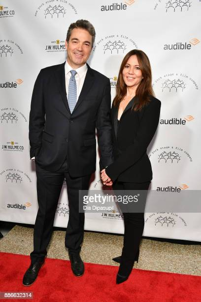 Jon Tenney and wife Leslie Urdang attend the 2017 New York Stage Film Winter Gala at Pier Sixty at Chelsea Piers on December 5 2017 in New York City