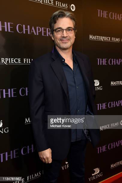 Jon Tenney attends the Los Angeles premiere of The Chaperone hosted by Viking and PBS Films on April 3 2019 in Los Angeles California