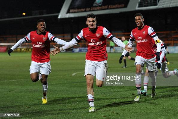 Jon Toral Celebrates Scoring Arsenal's 3rd Goal With Chuba