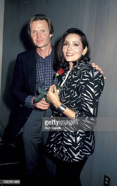 Jon Voight and Barbara Carrera during Welcome Home Vets February 24 1986 at The Forum in Los Angeles California United States