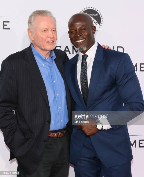 Jon Voight and Djimon Hounsou attend the premiere of Paramount Pictures and Pure Flix Entertainment's 'Same Kind Of Different As Me' on October 12...