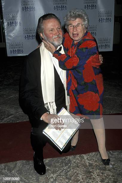 """Jon Voight and Dr. Ruth Westheimer during """"Children At Heart"""" To Benefit Chabads Children of Chernobyl at Pier 60, Chelsea Piers in New York City,..."""