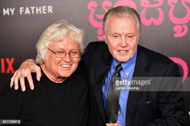 Jon Voight and his brother Chip Taylor arrive to the DGA Theater for the New York premiere of 'First They Killed My Father' on September 14 2017 in...