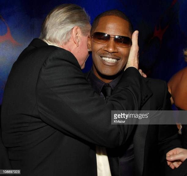 Jon Voight and Jamie Foxx during InStyle Warner Bros 2006 Golden Globes After Party Inside at Beverly Hilton in Beverly Hills California United States
