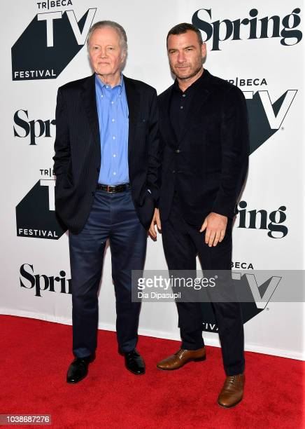 Jon Voight and Liev Schreiber attend Ray Donovan Season 6 Premiere during the 2018 Tribeca TV Festival at Spring Studios on September 23 2018 in New...