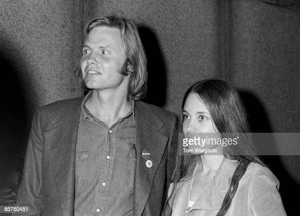 Jon Voight and Marcheline Bertrand at Stars for McGovern benefit fundraiser on June 14 1972 in New York City