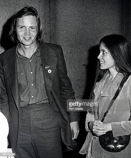 Jon Voight and Marcheline Bertrand at the Madison Square Garden in New York City New York