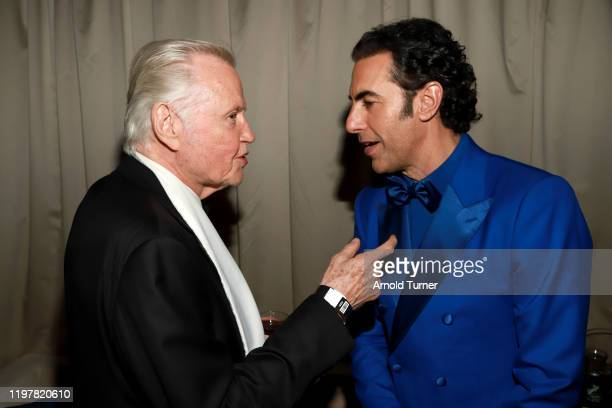 Jon Voight and Sacha Baron Cohen attend the Netflix 2020 Golden Globes After Party on January 05, 2020 in Los Angeles, California.