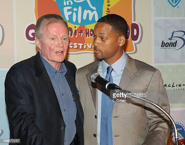 Jon Voight and Will Smith during Giffoni Hollywood Film Festival - Press Conference at Nickelodeon Studios in Hollywood, California, United States.