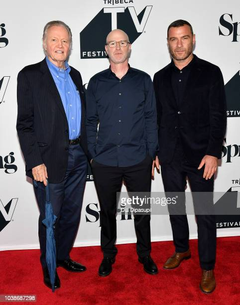 Jon Voight David Hollander and Liev Schreiber attend Ray Donovan Season 6 Premiere during the 2018 Tribeca TV Festival at Spring Studios on September...