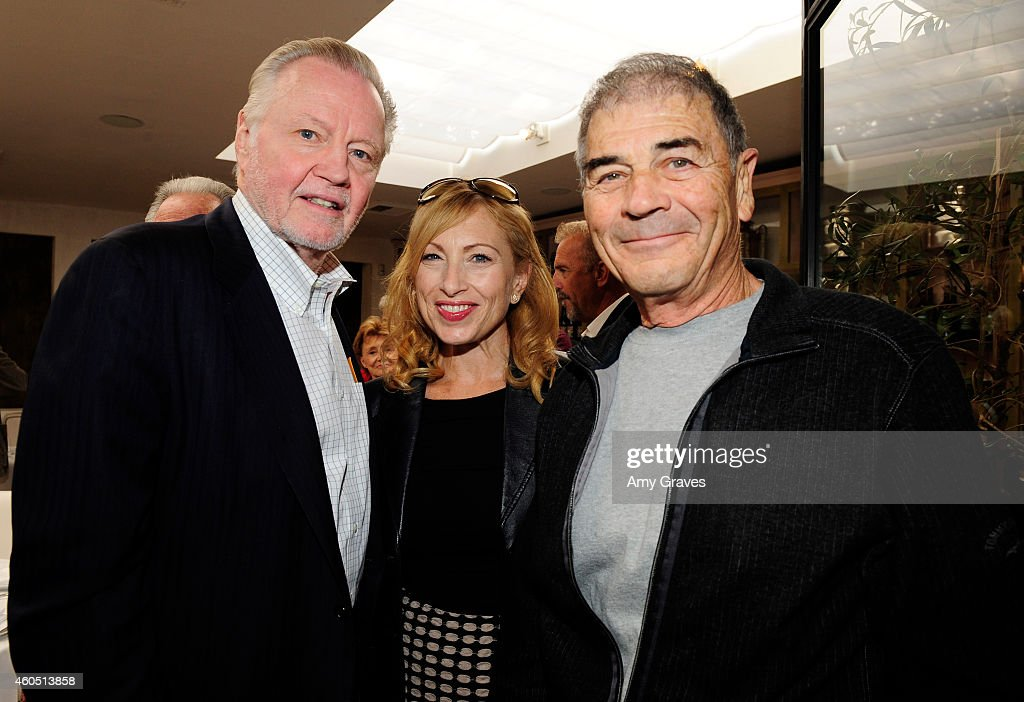 Jon Voight, Denise Grayson and Robert Forster attend a special luncheon for Kevin Costner and Mike Binder hosted by Colleen Camp for the film BLACK OR WHITE at Fig & Olive Melrose Place on December 15, 2014 in West Hollywood, California.