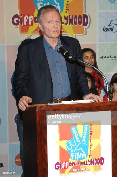 Jon Voight during Giffoni Hollywood Film Festival - Press Conference at Nickelodeon Studios in Hollywood, California, United States.