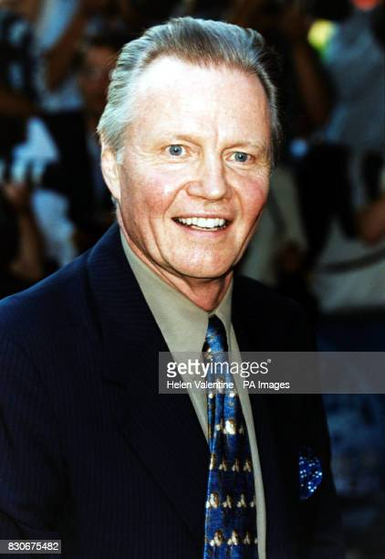 Jon Voight father of Angelina Jolie outside the Empire Cinema in London's Leicester Square where Jolie's latest film 'Tomb Raider' received its...