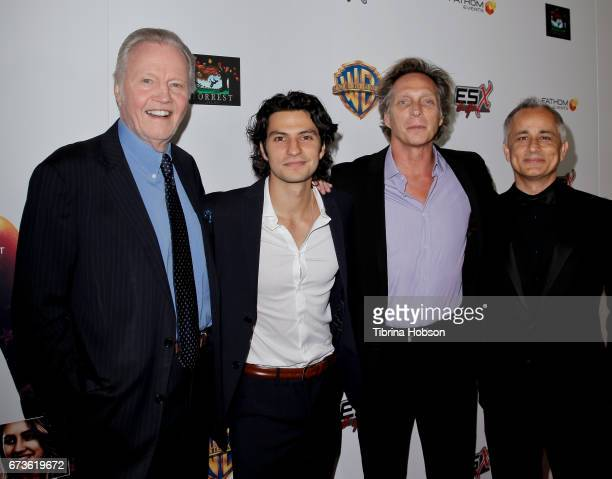 Jon Voight George Kosturos William Fichtner and Ali Afshar attend the premiere of Warner Bros Home Entertainment's 'American Wrestler The Wizard' at...