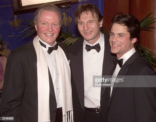 Jon Voight Liam Neeson and Rob Lowe at the 'Carousel of Hope 2000' gala to benefit the Barbara Davis Center for Childhood Diabetes at the Beverly...