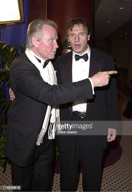 Jon Voight Liam Neeson during 14th Carousel of Hope Ball for Barbara Davis Center for Diabetes at Beverly Hills Hilton Hotel in Beverly Hills...