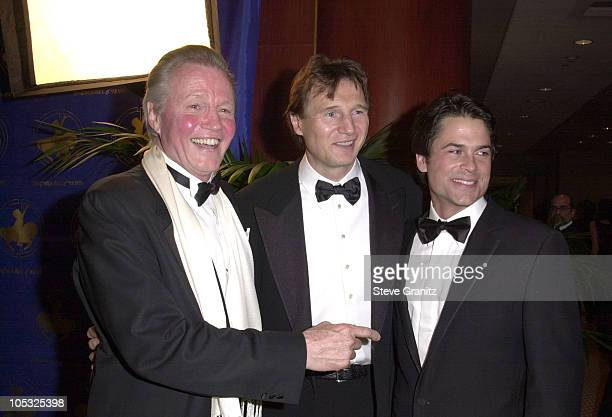 Jon Voight Liam Neeson Rob Lowe during 14th Carousel of Hope Ball for Barbara Davis Center for Diabetes at Beverly Hills Hilton Hotel in Beverly...
