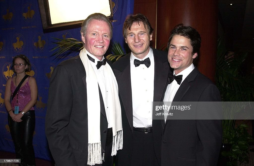 Jon Voight, Liam Neeson & Rob Lowe during Carousel Ball 2000 in Beverly Hills, California, United States.