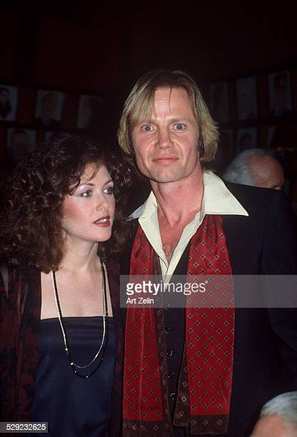 Jon Voight with his girlfriend Stacy at Sardi's circa 1970 New York