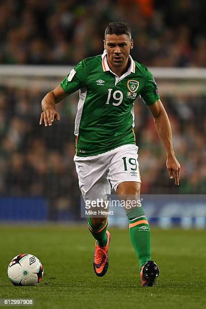 Jon Walters of Ireland in action during the FIFA 2018 World Cup Group D Qualifier between Republic of Ireland Georgia at the Aviva Stadium on October...