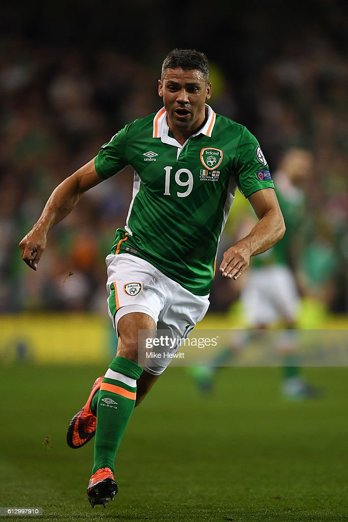 Jon Walters of Ireland in action during the FIFA 2018 World Cup Group D Qualifier between Republic of Ireland Georgia at the Aviva Stadium on October 6, 2016 in Dublin, Ireland.