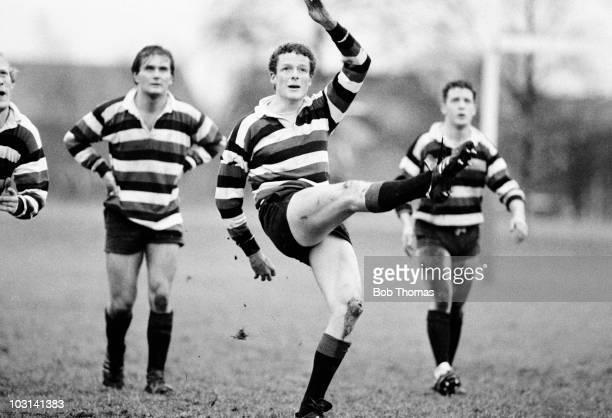 Jon Webb of Bristol University in action against Loughborough University during the University Rugby Union Championship SemiFinal held in Bristol on...