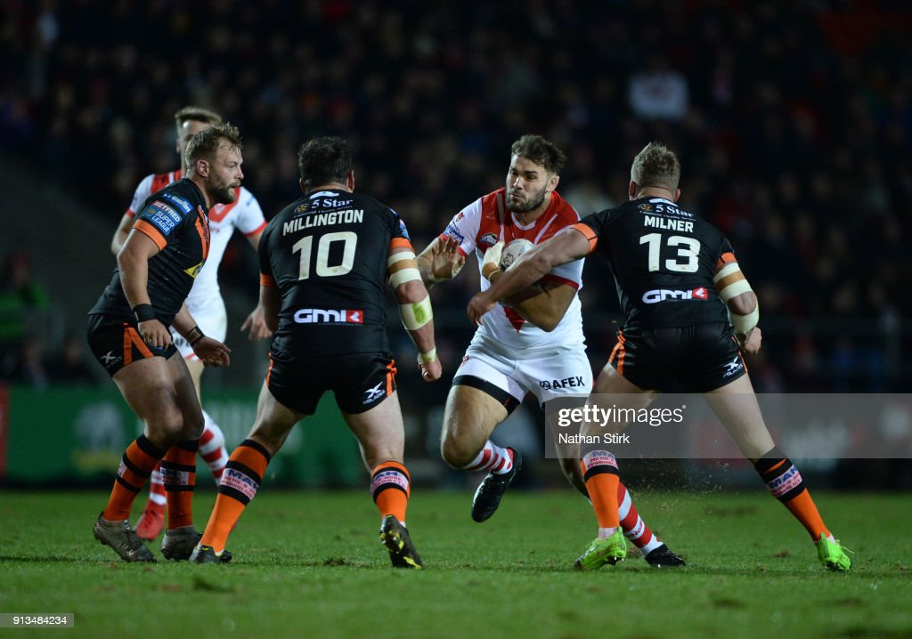 St Helens v Castleford Tigers - Betfred Super League : News Photo